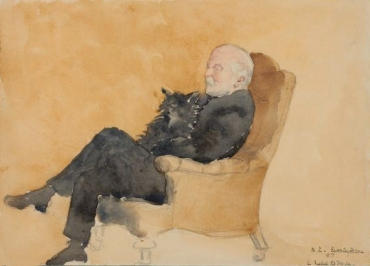 Henry Adams with Dog