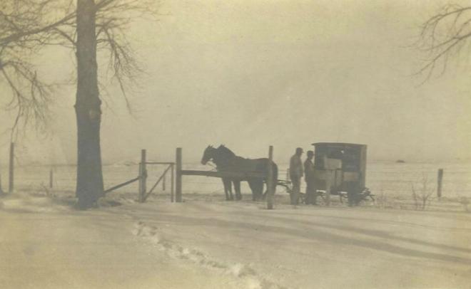 Mail Winter Breckenridge MN 1910