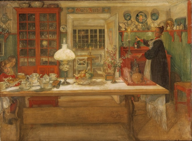 Getting Ready for a Game (1901) by Carl Larsson (1853–1919)