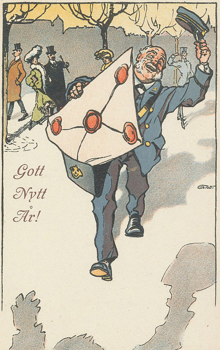 NY 1 Happy Mailman