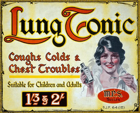 L0030508 Showcard advertising Lung Tonic.