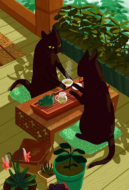 Tea Cats Francesca Buchko