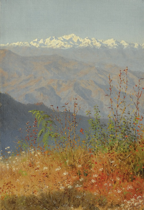 VV Sunset in Himalayas 1879