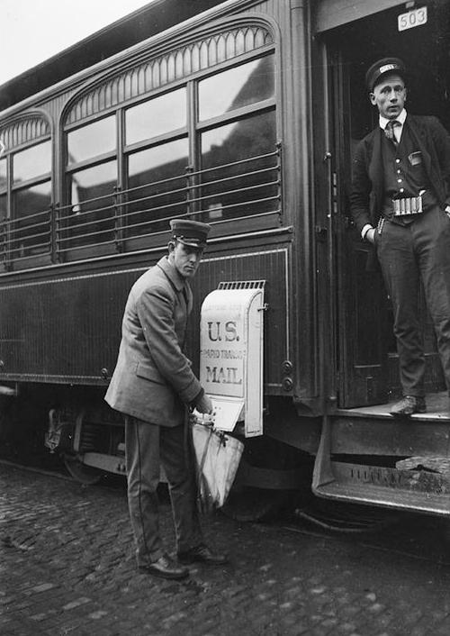 Mailbox on Train