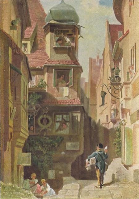 Carl Spitzweg Postman
