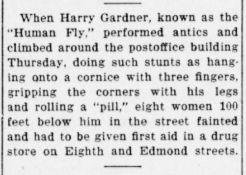 PO Human Fly Harry Gardner