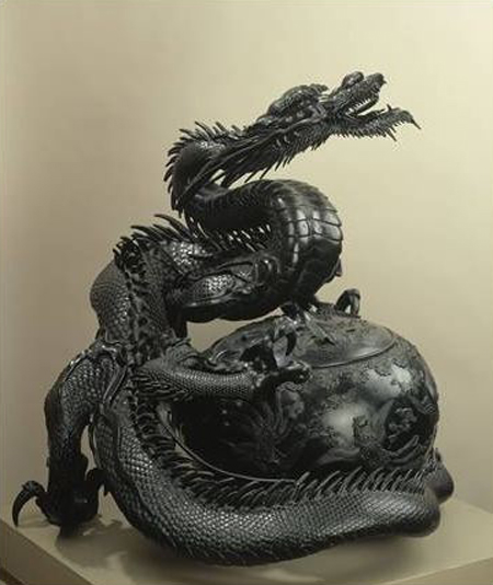 Incense Burner with Dragon Toun