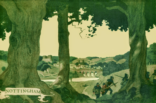 NC Wyeth Robinhood Endpapers