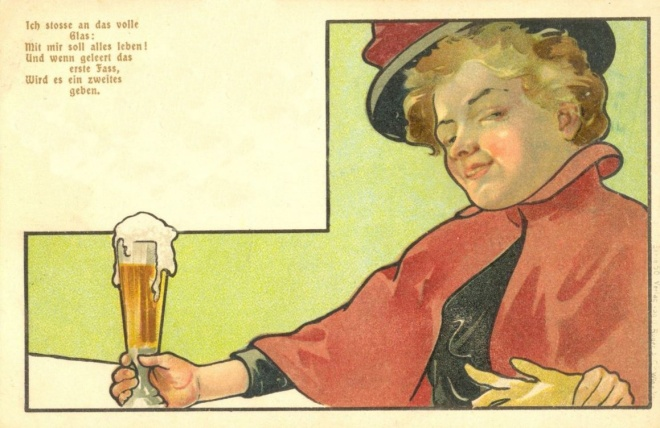 Beer Postcard Red Cape