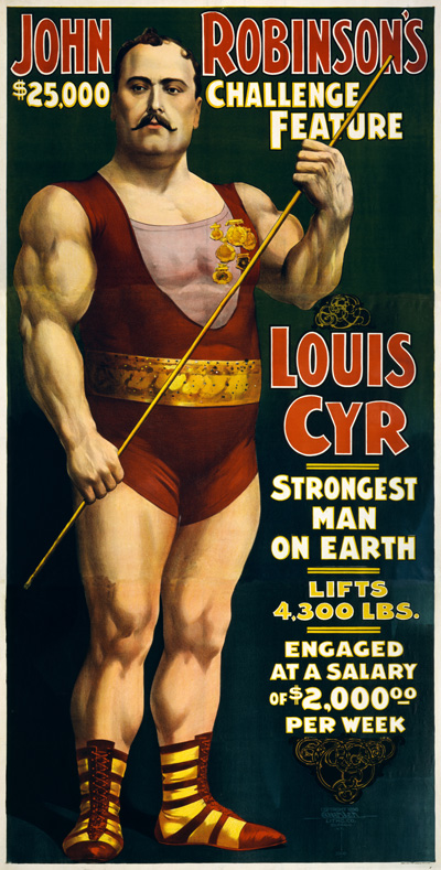 Courier Louis_Cyr,_strongest_man_on_earth,_1898