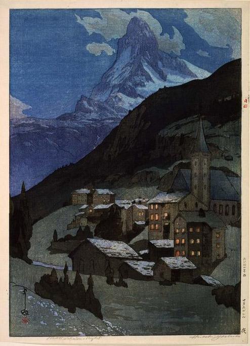 Matterhorn at night yoshida hiroshi 1925