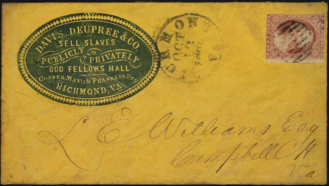 Slaver's Stationery 10 13 1860