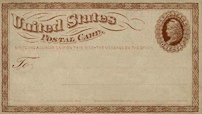 Postal Card First
