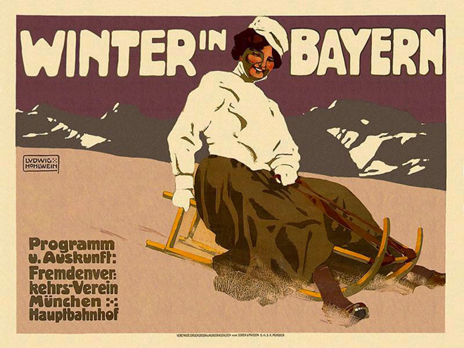 Winter in Bayern poster by Ludwig Hohlwein