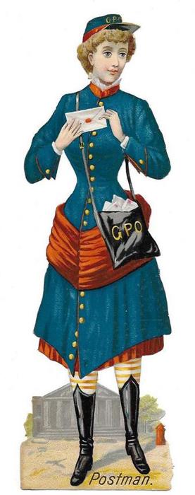 Postal Person Victorian