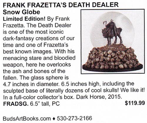 Frazetta Snow Globe