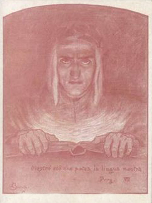 Dante with Book