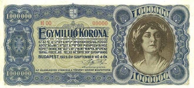 1 Million Korona 1923