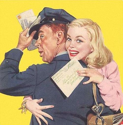Hugging the Mailman 1952