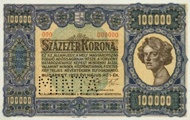 Hungary 100000 Korona 1923