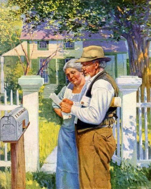 Mail Older Couple 1925