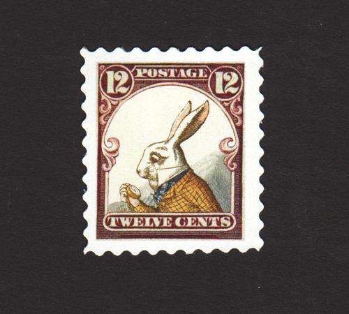 White Rabbit Stamp