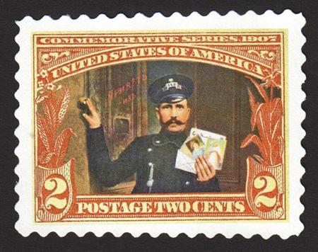 Russian Postman Stamp