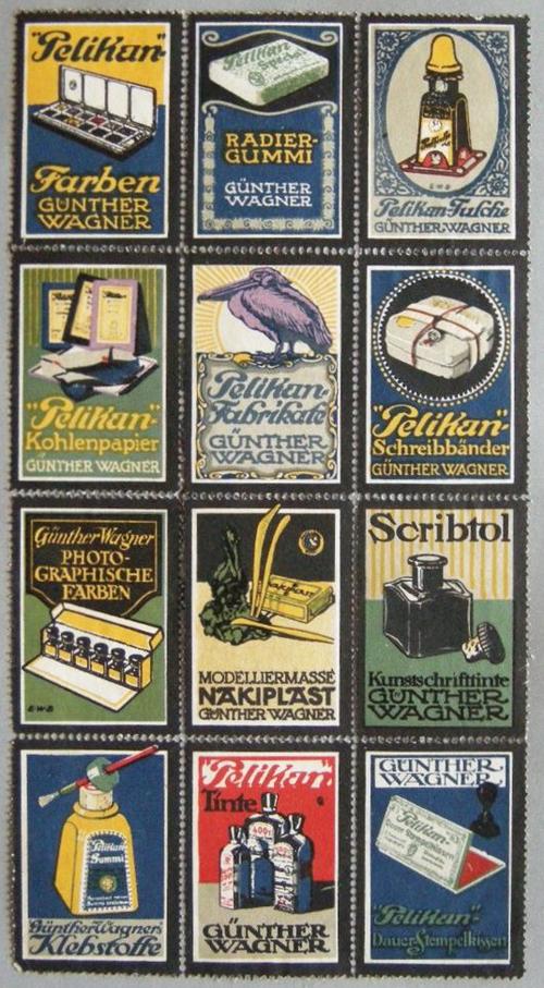 Pelikan Poster Stamps