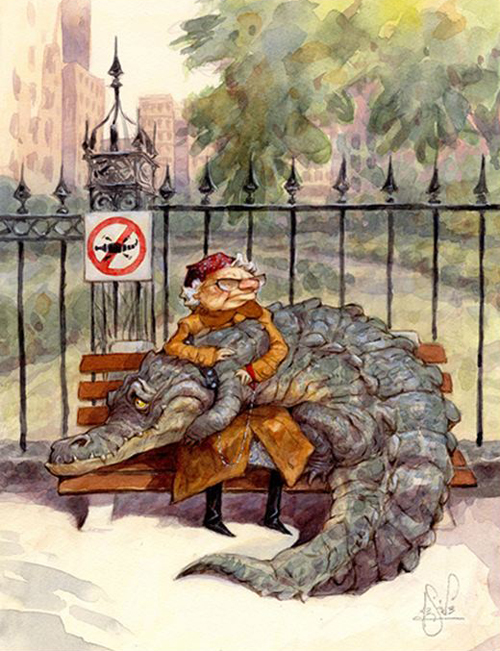 Peter de Seve Sad Gator