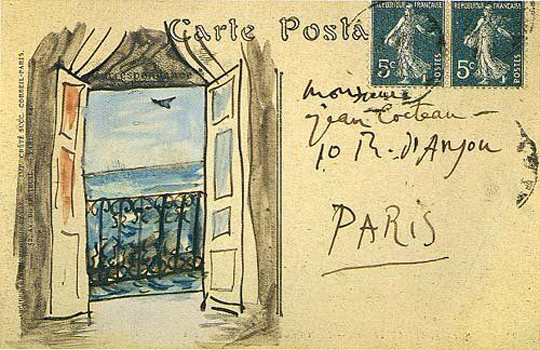 Mail Picasso to Jean Cocteau