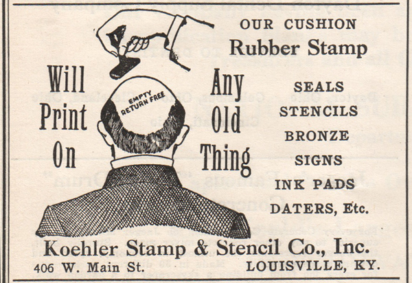 rubber stamp ad