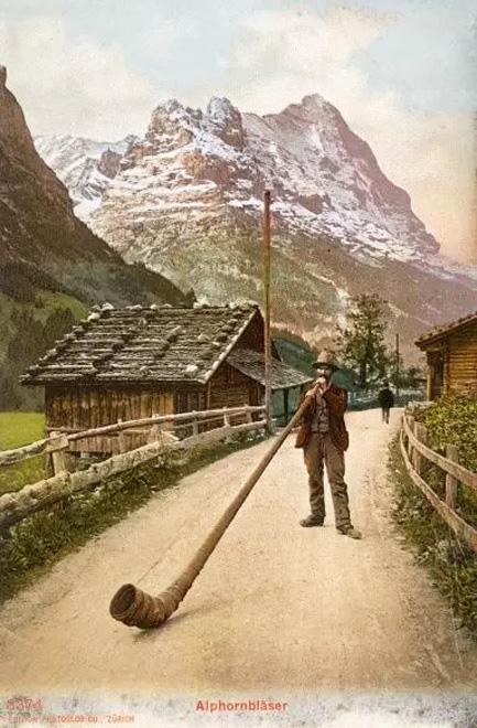Alphorn Postcard